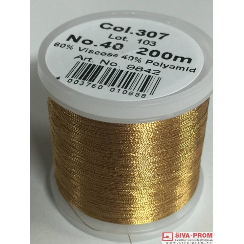 boja 307_9842 Metallic No.40 Smooth, 200m metalizirani konac