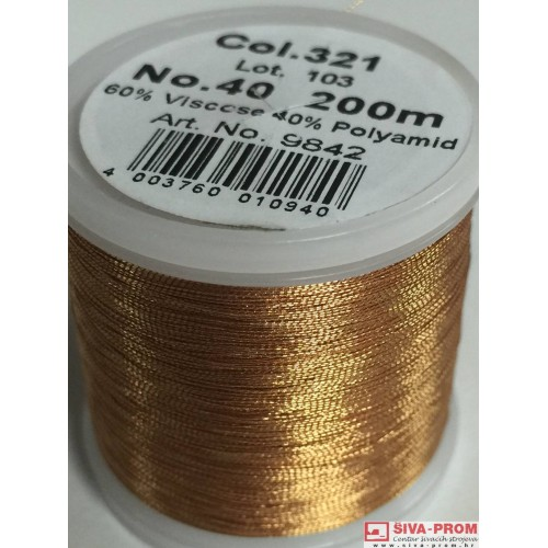 boja 321_9842 Metallic No.40 Smooth, 200m metalizirani konac