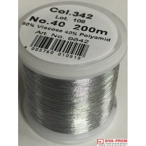 boja 342_9842 Metallic No.40 Smooth, 200m metalizirani konac